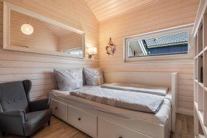 Im Schlafzimmer 3 gehört ein Ausziehbett für ein oder zwei Personen zur Ausstattung