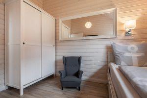Alle drei Schlafräume des Ferienhauses Küstenzauber bieten mit der Ausstattung viel Luxus